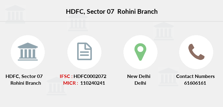 Hdfc-bank Sector-07-rohini branch