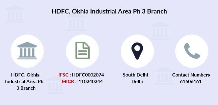 Hdfc-bank Okhla-industrial-area-ph-3 branch