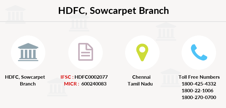 Hdfc-bank Sowcarpet branch