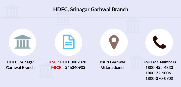 Hdfc-bank Srinagar-garhwal branch