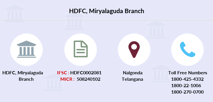 Hdfc-bank Miryalaguda branch
