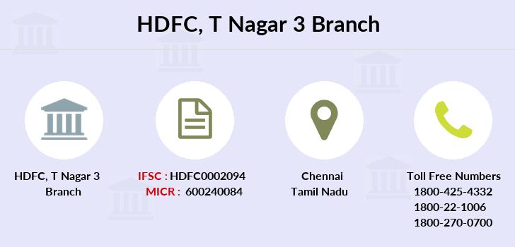 hdfc bank credit card ifsc code chennai thiruvanmiyur