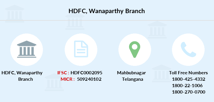 Hdfc-bank Wanaparthy branch