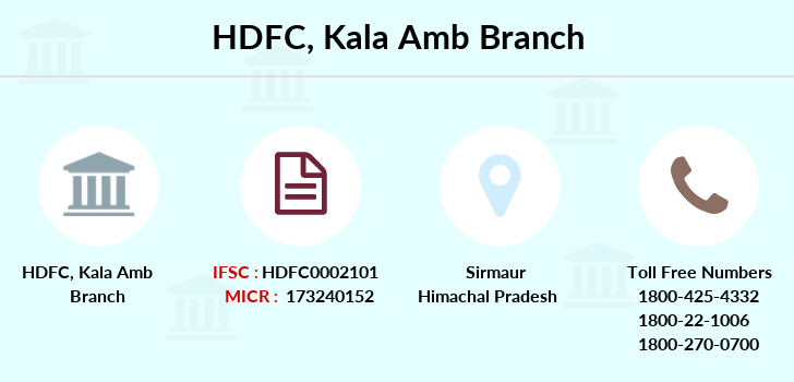 Hdfc-bank Kala-amb branch