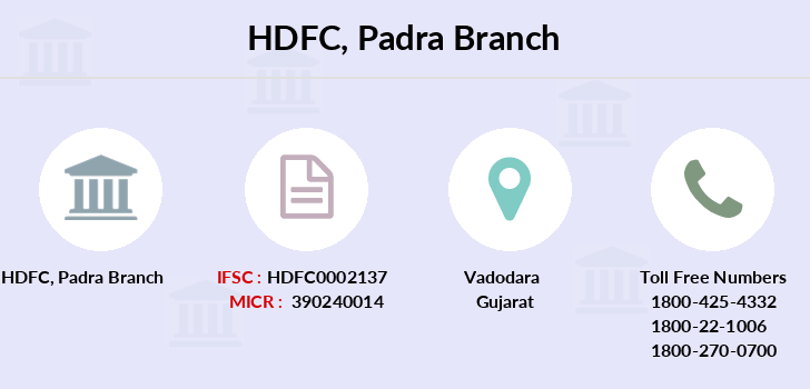 Hdfc-bank Padra branch