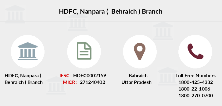Hdfc-bank Nanpara-behraich branch