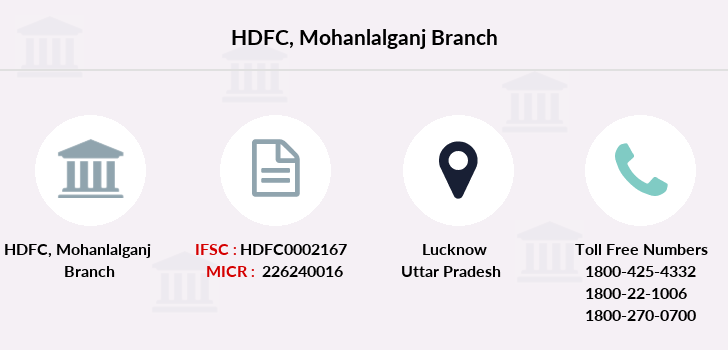 Hdfc-bank Mohanlalganj branch