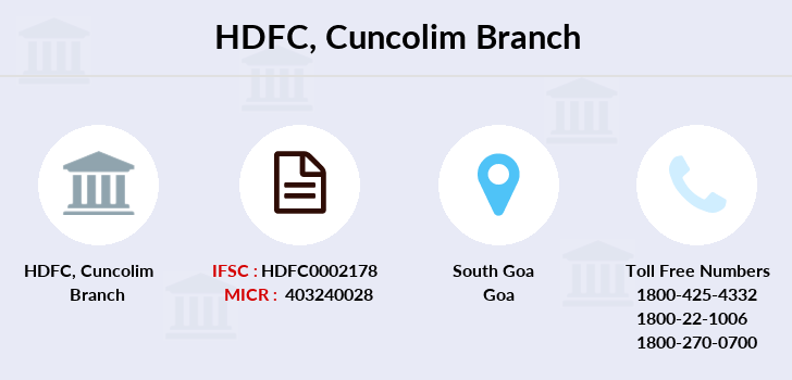 Hdfc-bank Cuncolim branch