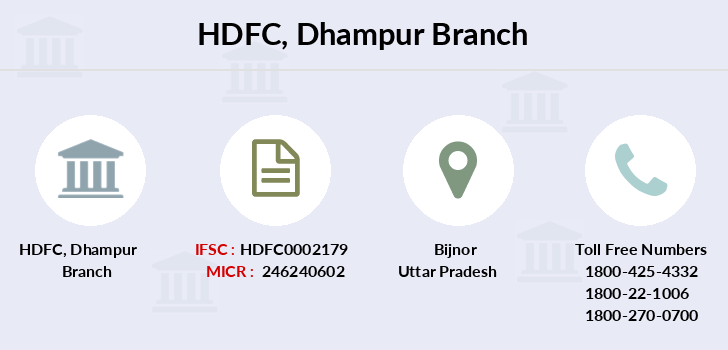 Hdfc-bank Dhampur branch