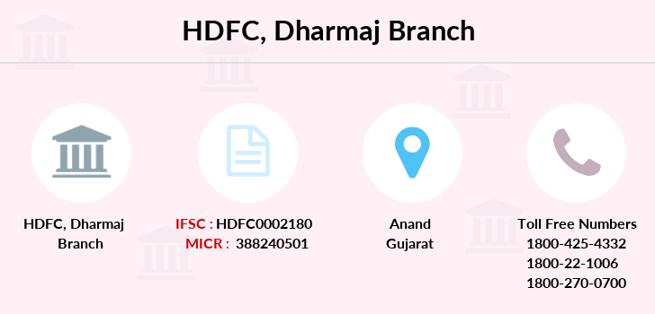 Hdfc-bank Dharmaj branch