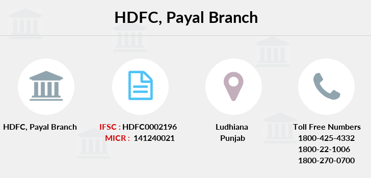 Hdfc-bank Payal branch