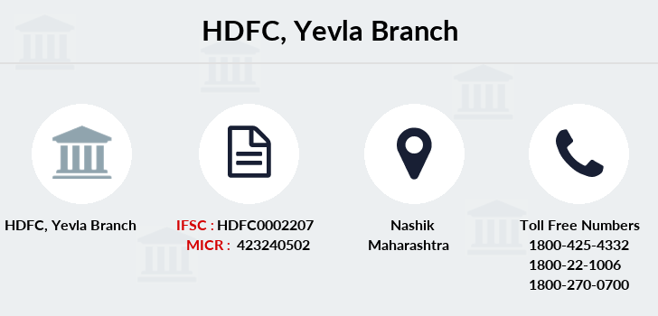 Hdfc-bank Yevla branch