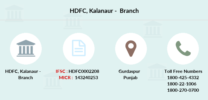 Hdfc-bank Kalanaur branch