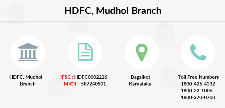 Hdfc-bank Mudhol branch