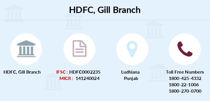 Hdfc-bank Gill branch
