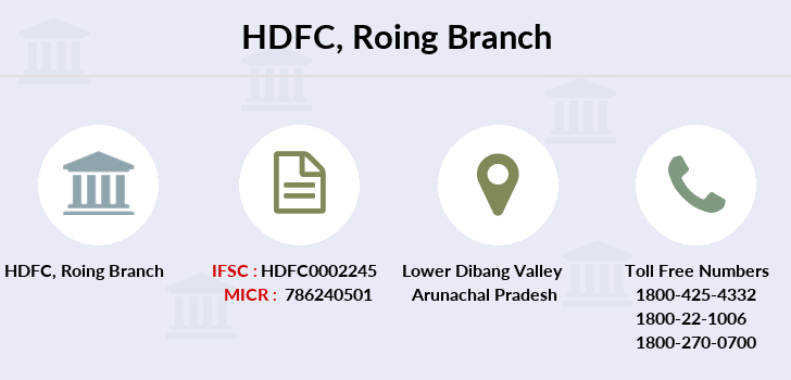 Hdfc-bank Roing branch