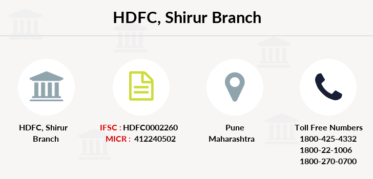 Hdfc-bank Shirur branch