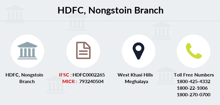 Hdfc-bank Nongstoin branch