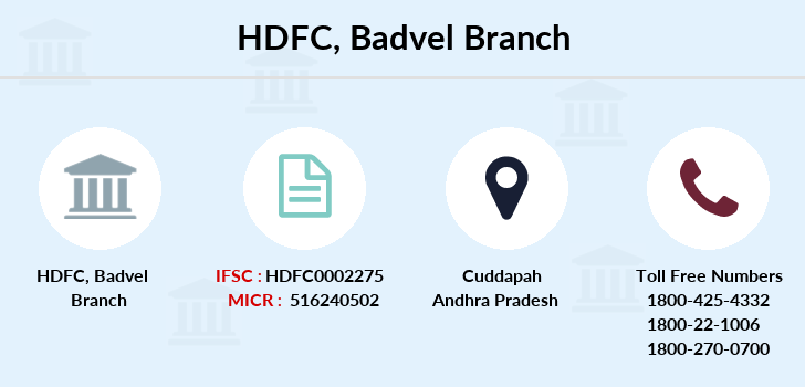 Hdfc-bank Badvel branch