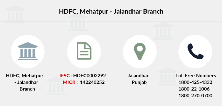Hdfc-bank Mehatpur-jalandhar branch