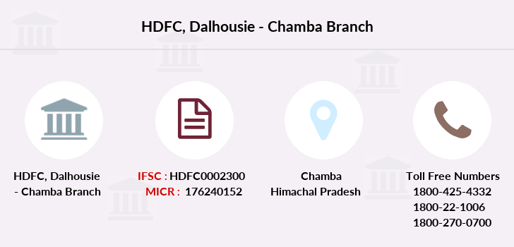 Hdfc-bank Dalhousie-chamba branch