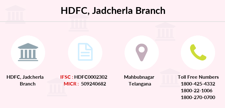 Hdfc-bank Jadcherla branch