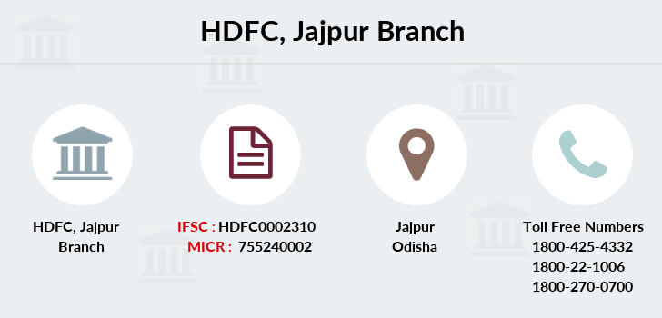Hdfc-bank Jajpur branch