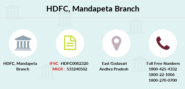 Hdfc-bank Mandapeta branch