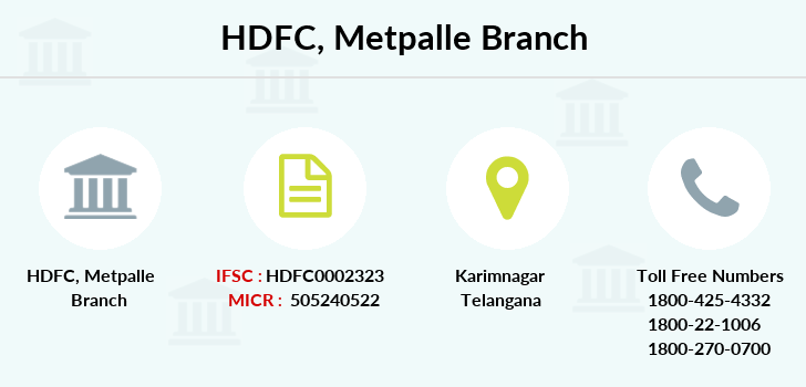 Hdfc-bank Metpalle branch