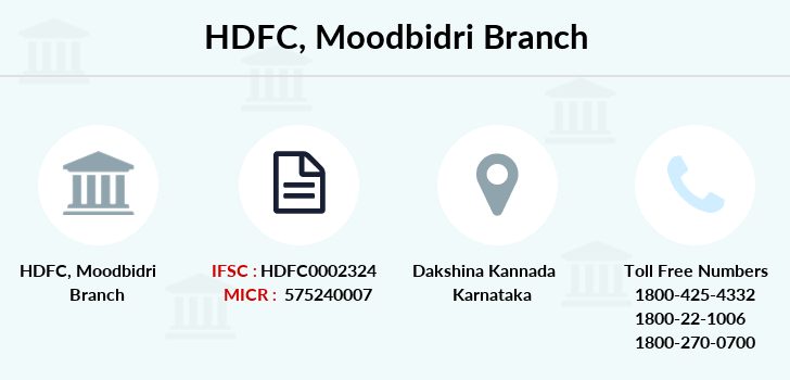 Hdfc-bank Moodbidri branch