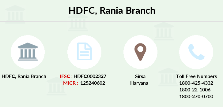 Hdfc-bank Rania branch