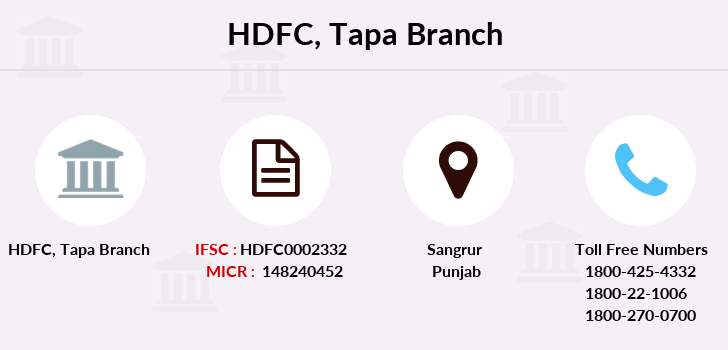 Hdfc-bank Tapa branch