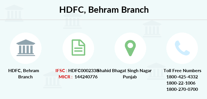 Hdfc-bank Behram branch