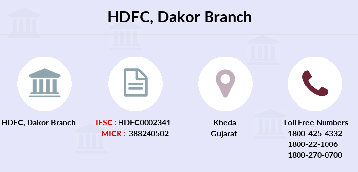 Hdfc-bank Dakor branch