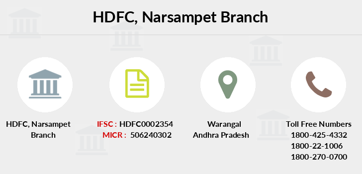 Hdfc-bank Narsampet branch
