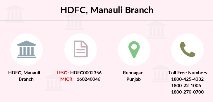 Hdfc-bank Manauli branch