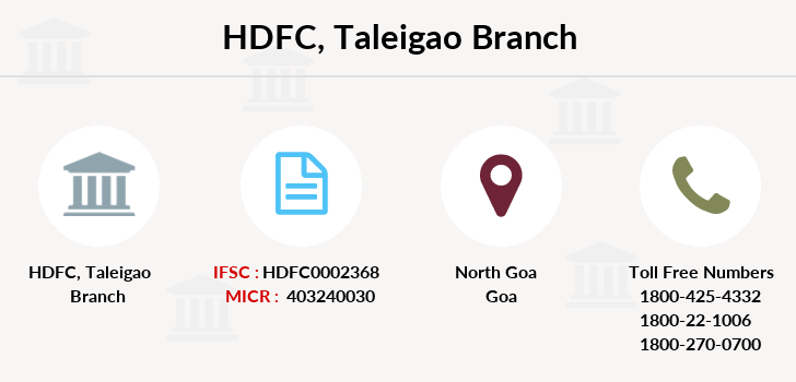 Hdfc-bank Taleigao branch