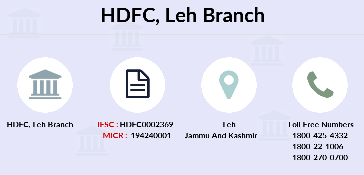 Hdfc-bank Leh branch