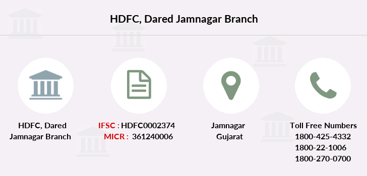 Hdfc-bank Dared-jamnagar branch