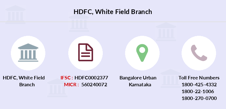 Hdfc-bank White-field branch