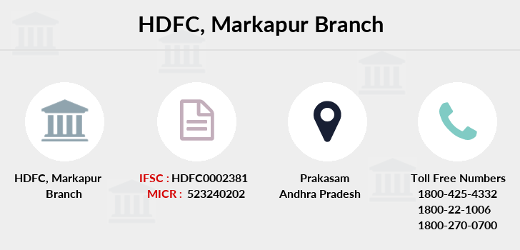 Hdfc-bank Markapur branch