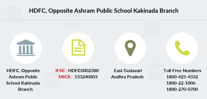 Hdfc-bank Opposite-ashram-public-school-kakinada branch