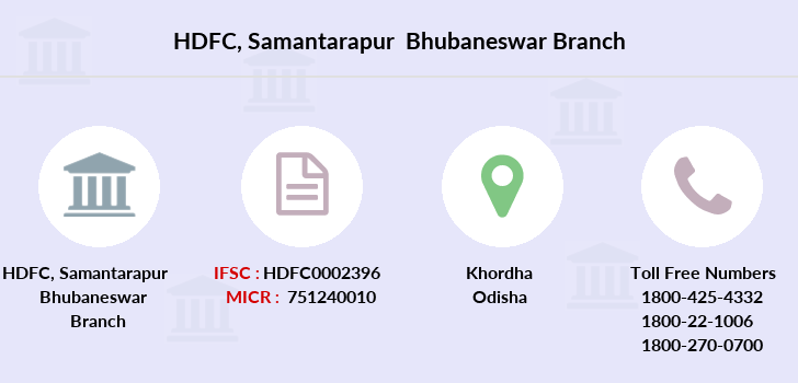 Hdfc-bank Samantarapur-bhubaneswar branch