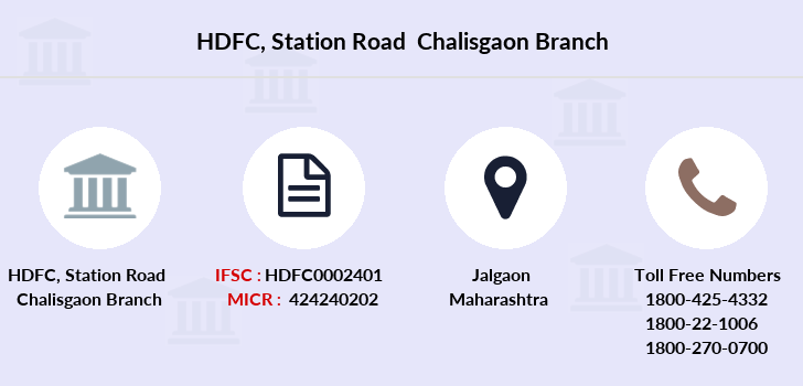 Hdfc-bank Station-road-chalisgaon branch