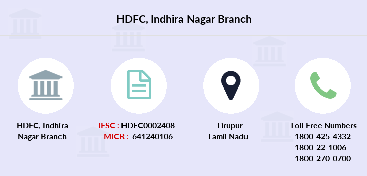 Hdfc-bank Indhira-nagar branch