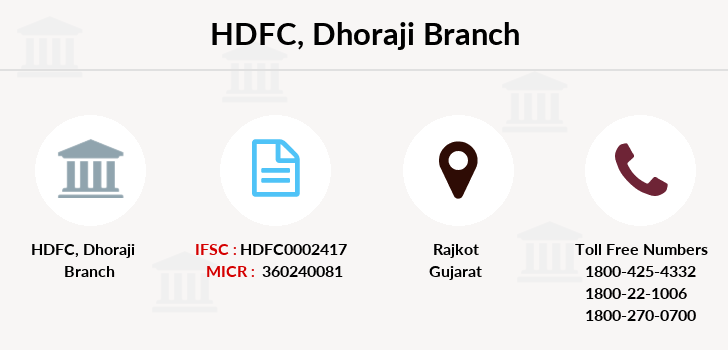 Hdfc-bank Dhoraji branch