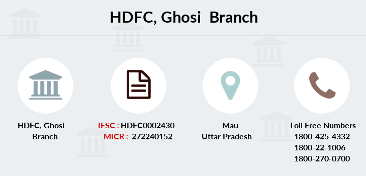 Hdfc-bank Ghosi branch