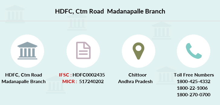 Hdfc-bank Ctm-road-madanapalle branch