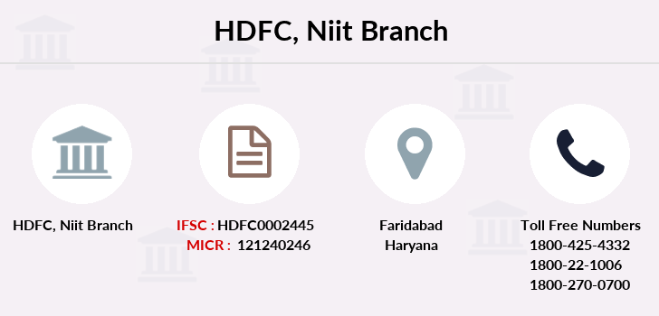 Hdfc-bank Niit branch