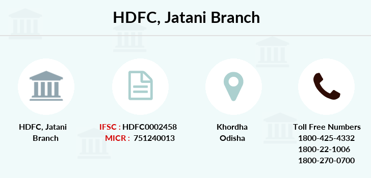 Hdfc-bank Jatani branch
